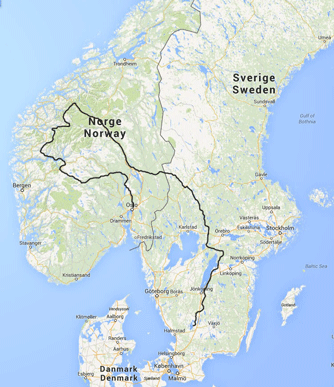 Motorcycle adventure Norway